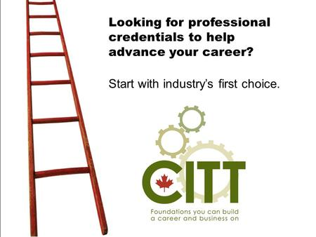 Looking for professional credentials to help advance your career? Start with industry's first choice.