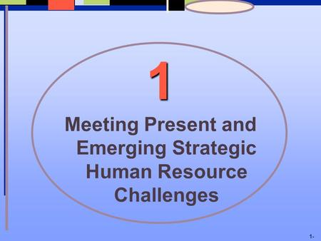 1- 1 Meeting Present and Emerging Strategic Human Resource Challenges.