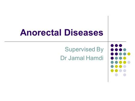 Supervised By Dr Jamal Hamdi