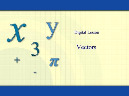 Digital Lesson Vectors.