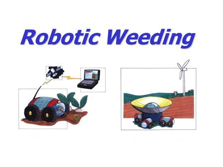 Robotic Weeding. Vision and objectives Novel weeding technologies that can reduce manual effort by 50-100% in organically grown sugar beets and vegetables.