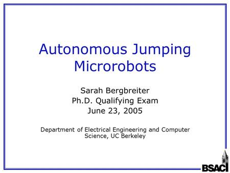 autonomous jumping microrobots essay