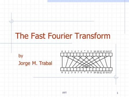 FFT1 The Fast Fourier Transform by Jorge M. Trabal.