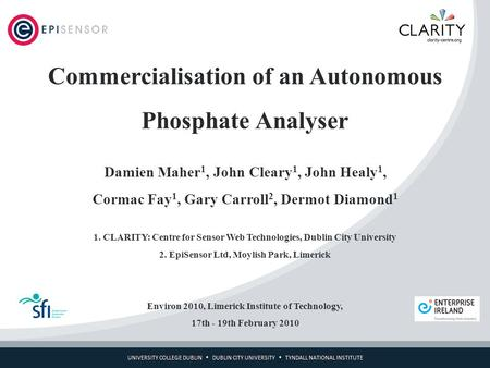 Commercialisation of an Autonomous Phosphate Analyser