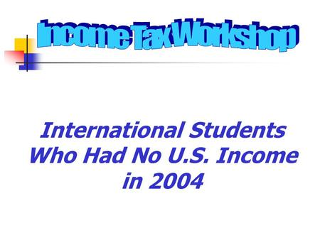 International Students Who Had No U.S. Income in 2004.