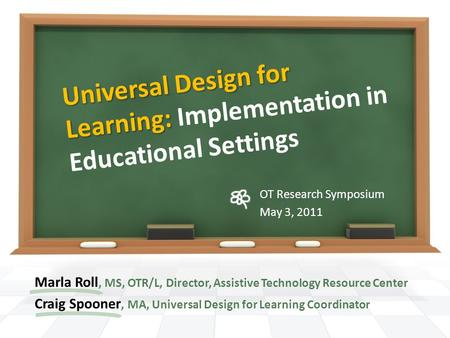 Universal Design for Learning: Implementation in Educational Settings