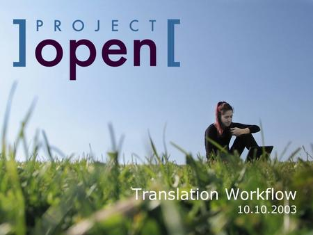 Translation Workflow 10.10.2003. The Big Picture  The execution of translation projects involves a lot of file transfers between the project members.