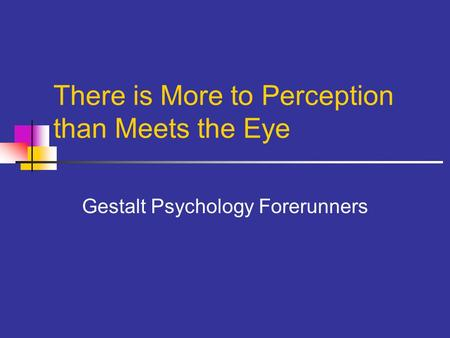 gestalt psychology and perception essay Since being discovered, gestalt psychology has made significant contributions to the study of perception, learning and social psychology it is a school of thought that looks at the human mind and behaviour as a whole.