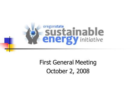 First General Meeting October 2, 2008. Agenda Mission Statement Fiji Project Overview Coconut Oil Progress Micro Hydro Potential Biodiesel Outreach Fundraising.