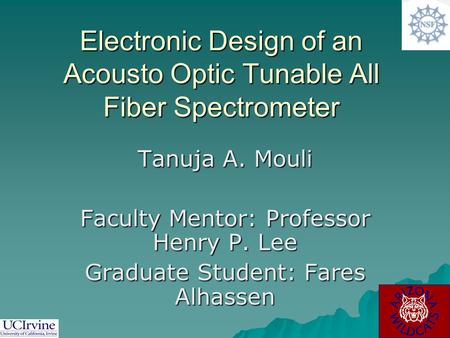 Electronic Design of an Acousto Optic Tunable All Fiber Spectrometer