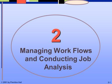 © 2001 by Prentice Hall 2-1 2 Managing Work Flows and Conducting Job Analysis.
