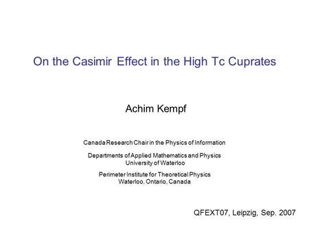 On the Casimir Effect in the High Tc Cuprates