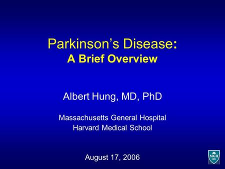 Parkinson's Disease: A Brief Overview