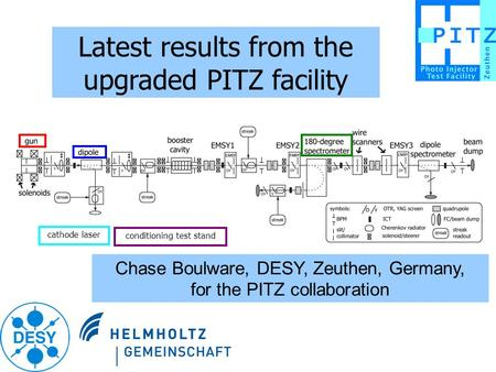 Latest results from the upgraded PITZ facility Chase Boulware, DESY, Zeuthen, Germany, for the PITZ collaboration cathode laser conditioning test stand.