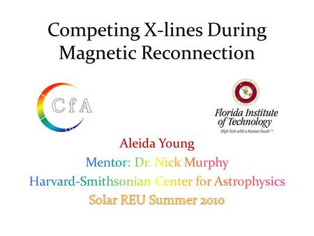 Competing X-lines During Magnetic Reconnection. OUTLINE o What is magnetic reconnection? o Why should we study it? o Ideal MHD vs. Resistive MHD o Basic.