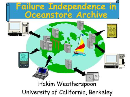 Failure Independence in Oceanstore Archive Hakim Weatherspoon University of California, Berkeley.