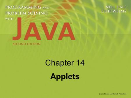 Chapter 14 Applets. 2 Knowledge Goals Understand the differing roles of applications and applets Understand how a browser operates Understand the role.