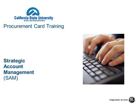 Procurement Card Training Strategic Account Management (SAM)