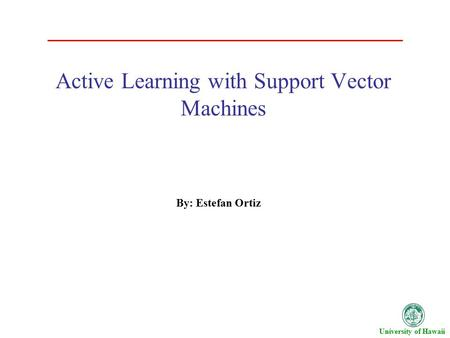 Active Learning with Support Vector Machines