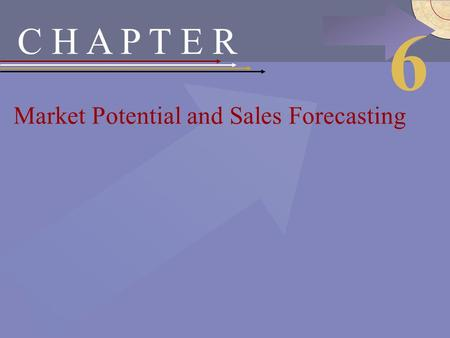 McGraw-Hill/Irwin © 2002 The McGraw-Hill Companies, Inc., All Rights Reserved. C H A P T E R Market Potential and Sales Forecasting 6.