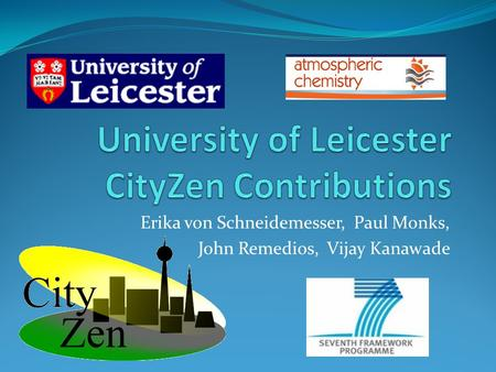 University of Leicester CityZen Contributions