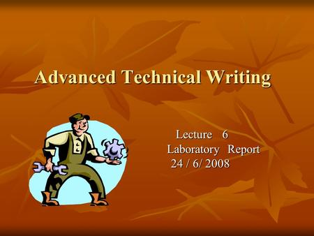 advanced technical writing
