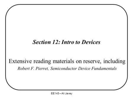 Section 12: Intro to Devices