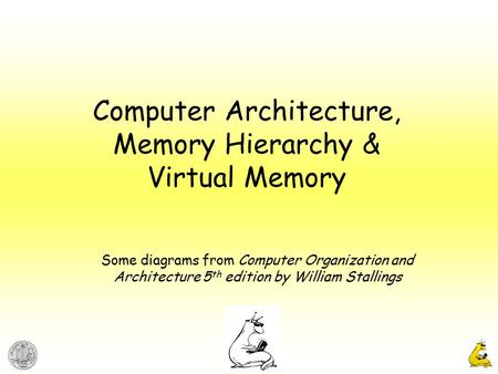 Computer Architecture, Memory Hierarchy & Virtual Memory