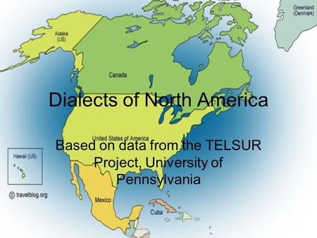 Dialects of North America