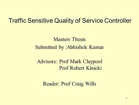 Masters thesis service