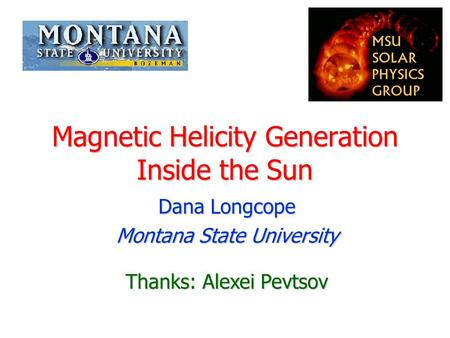 Magnetic Helicity Generation Inside the Sun