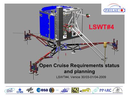 Open Cruise Requirements status and planning LSWT#4, Venice 30/03-01/04-2009 LSWT#4.