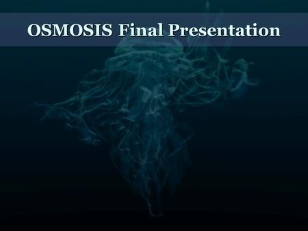 OSMOSIS Final Presentation. Introduction Osmosis System Scalable, distributed system. Many-to-many publisher-subscriber real time sensor data streams,