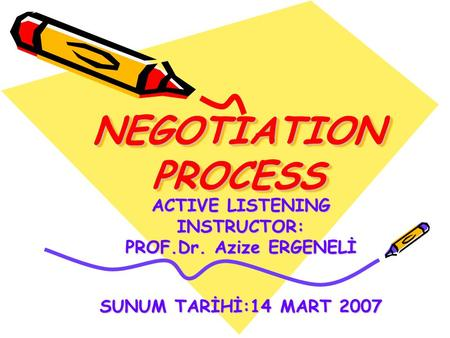 NEGOTIATION PROCESS ACTIVE LISTENING INSTRUCTOR: