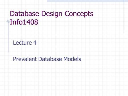 Database Design Concepts Info1408