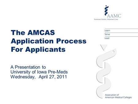 Amcas basic coursework tutorial