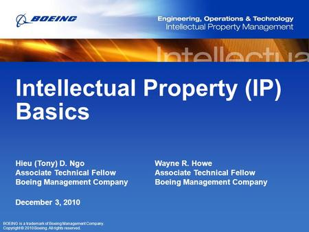 Intellectual Property (IP) Basics