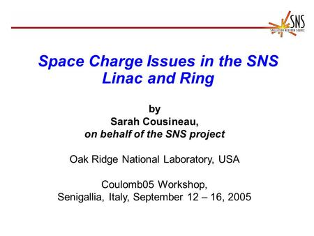 Space Charge Issues in the SNS Linac and Ring