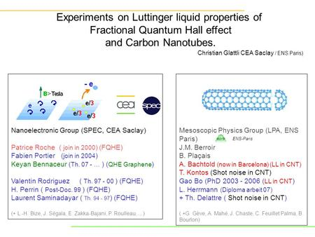 Experiments on Luttinger liquid properties of