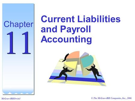 © The McGraw-Hill Companies, Inc., 2006 McGraw-Hill/Irwin1 Current Liabilities and Payroll Accounting Chapter 11.