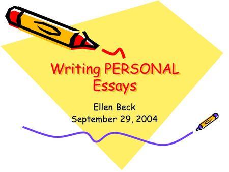 Writing Personal Essay