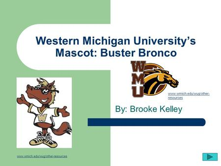 Western Michigan University's Mascot: Buster Bronco