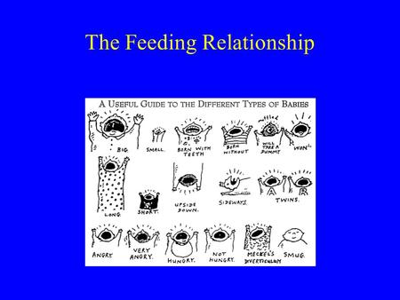 The Feeding Relationship. The feeding relationship Nourishing and nurturing Supports developmental tasks.