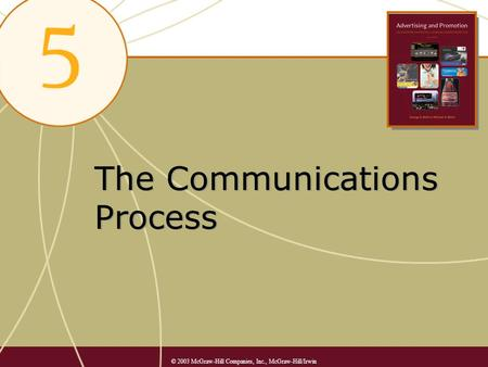 The Communications Process © 2003 McGraw-Hill Companies, Inc., McGraw-Hill/Irwin.