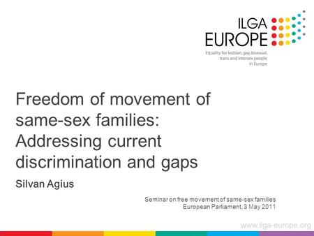 Seminar on free movement of same-sex families