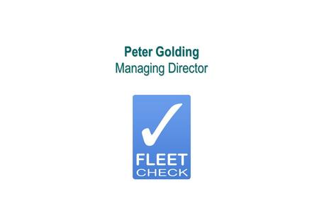 Peter Golding Managing Director
