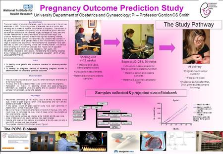 Pregnancy Outcome Prediction Study University Department of Obstetrics and Gynaecology; PI – Professor Gordon CS Smith BACKGROUND The current pattern of.