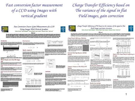 1 Fast conversion factor measurement of a CCD using Images with vertical gradient Charge Transfer Efficiency based on The variance of the signal in flat.