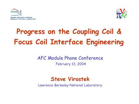 Progress on the Coupling Coil & Focus Coil Interface Engineering