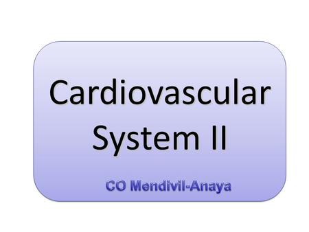 Cardiovascular System II. How do we measure blood pressure ?